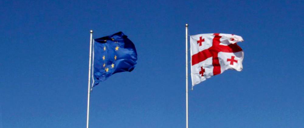eu and georgia flags #статьи #статьи
