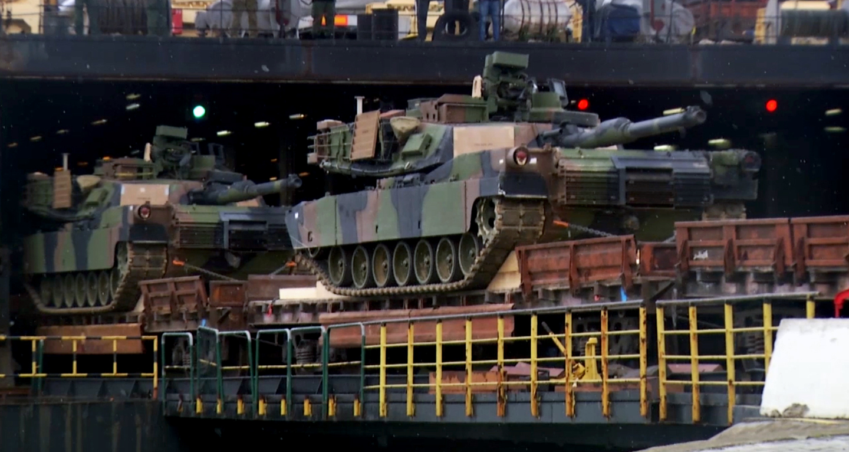 Американские танки Abrams в Грузии