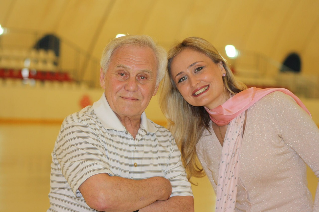 Эдуард Плинер и Мака Гиоргобиани (президент Федерации фигурного катания Грузии)