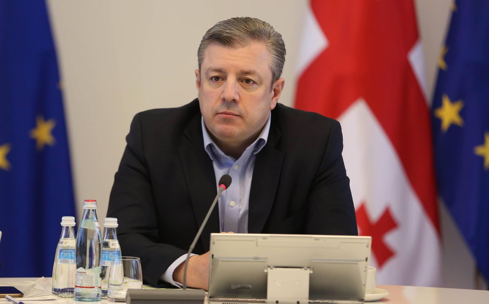 Премьер Грузии призвал политические партии проявить сдержанность