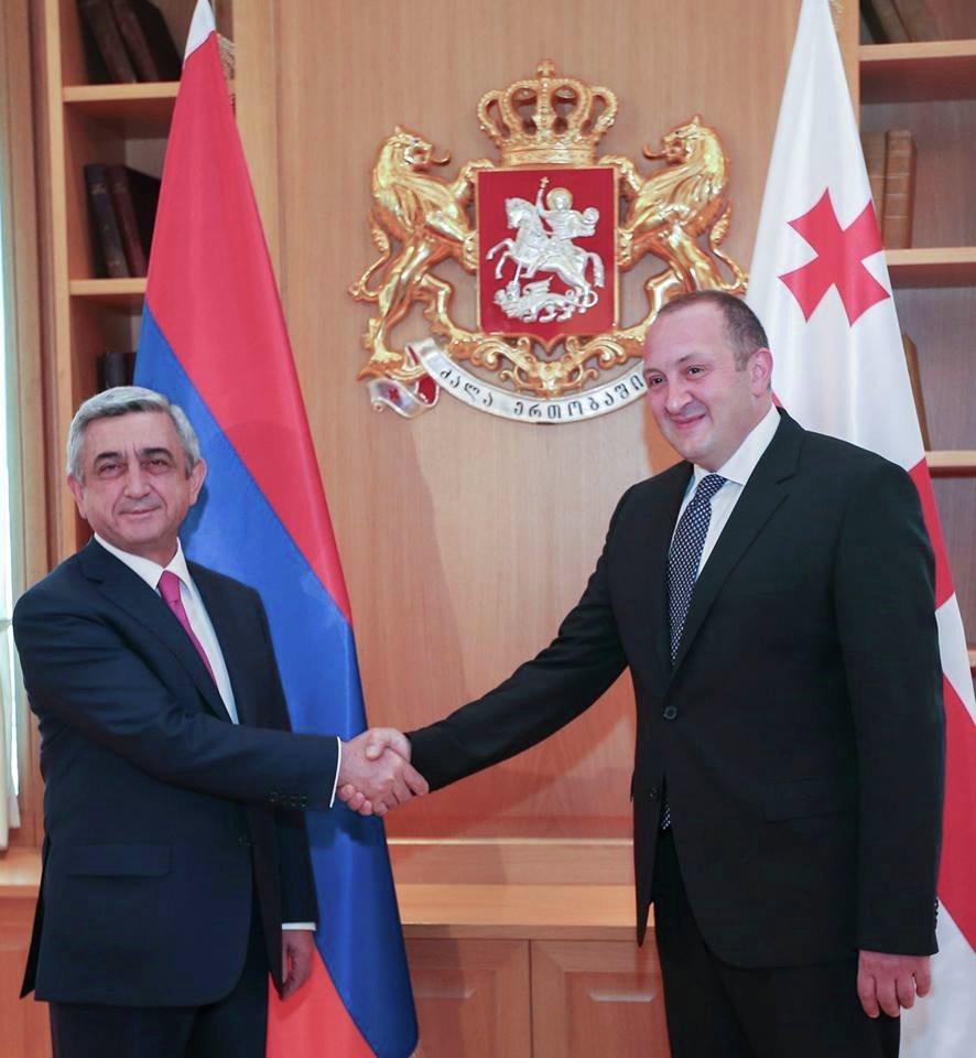Президент Грузии поздравил Армению с 25-летием независимости страны