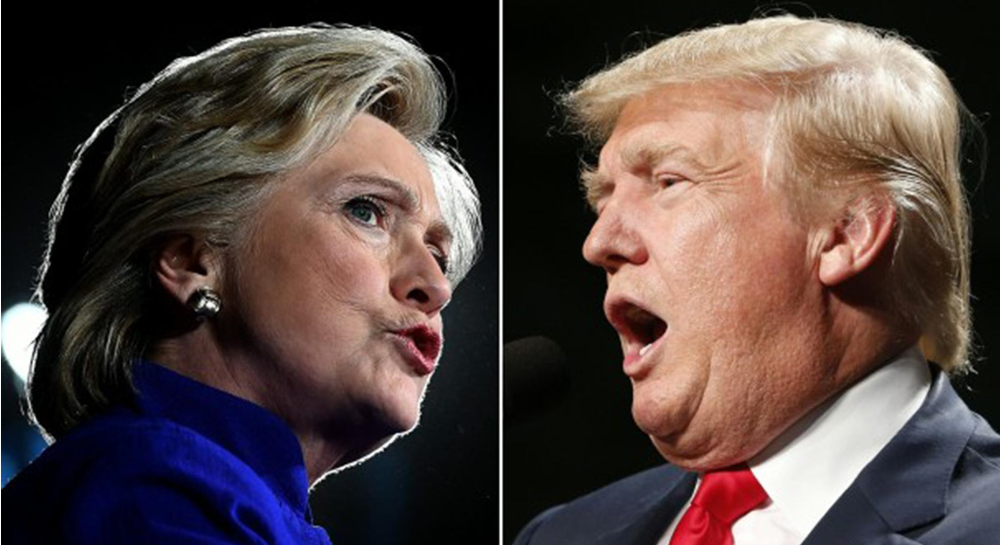 Хиллари Клинтон, Дональд Трамп