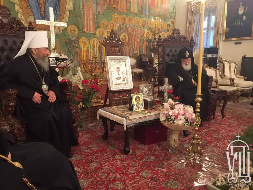 Митрополит Киевский и всея Украины прибыл в Грузию