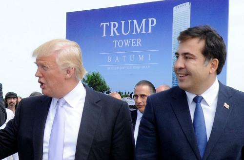 Trump Saakashvili Batumi #политика NDI, Вольский, Грузия, Лора Торнтон, Мезурнишвили, Россия, сша, Трамп