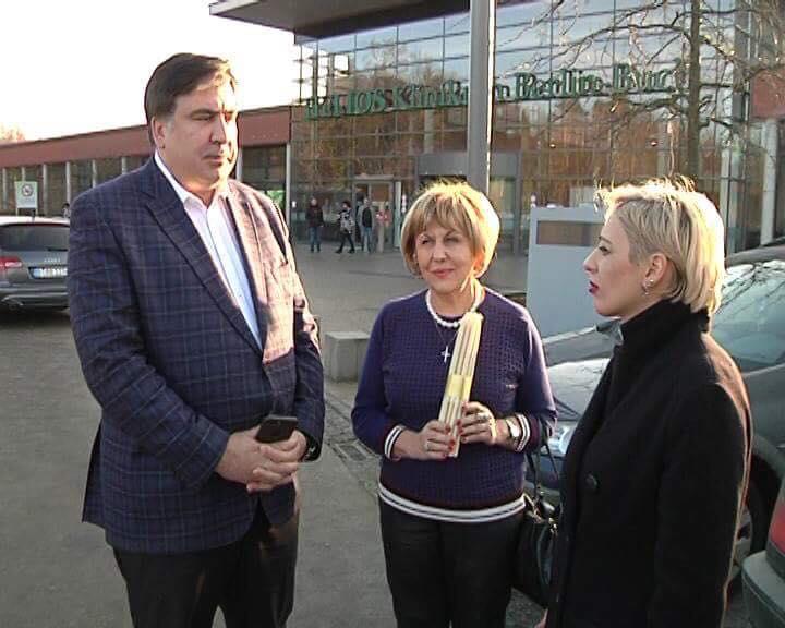 Михаил Саакашвили навестил Католикоса-Патриарха всея Грузии Илию Второго