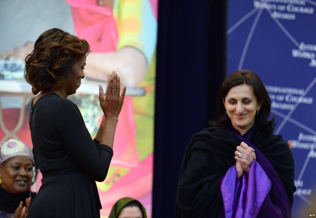 Награда от Мишель Обама. Личный архив