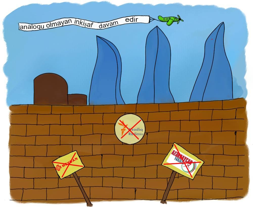 """""""Не имеющее аналогов развитие"""" - устойчивое выражение в Азербайджане, подкрепляющее многие государственные проекты, аналогично российскому мэму """"Не имеющее аналогов в мире""""."""