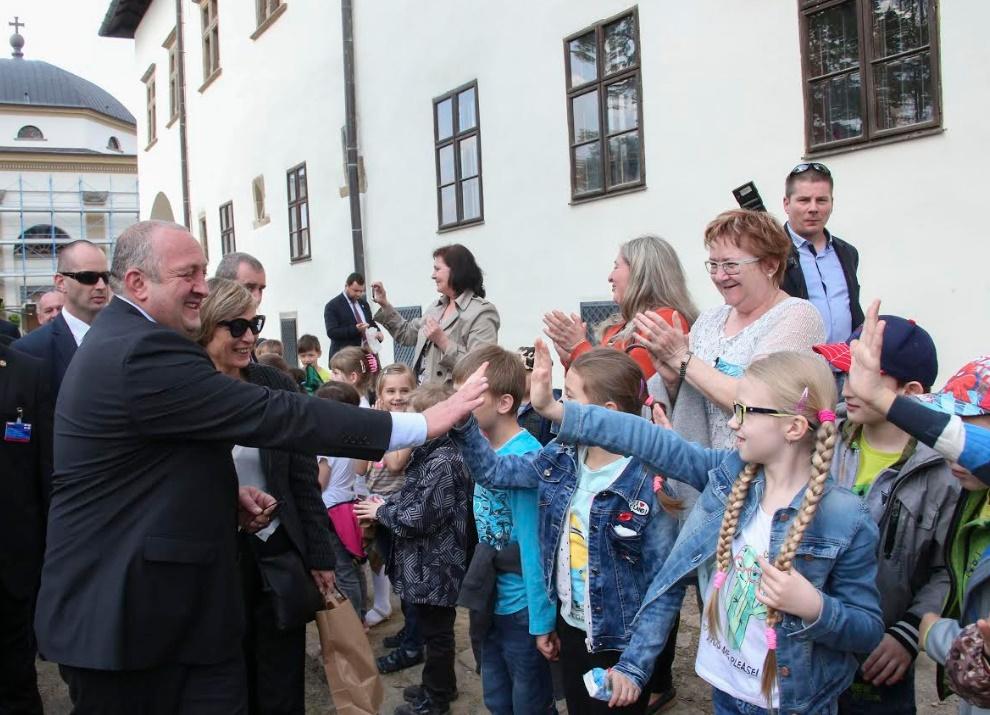 Маргвелашвили посетил родной город президента Словакии