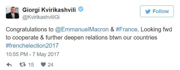 346456 #новости выборы, Георгий Квирикашвили, Макрон, Франция