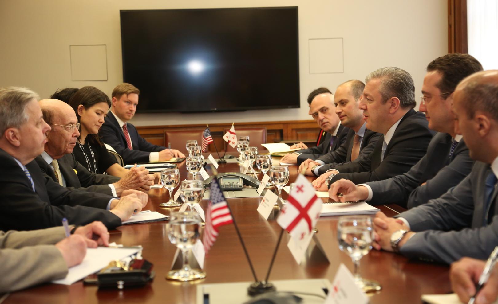 Министр торговли США подтвердил твердую поддержку Грузии