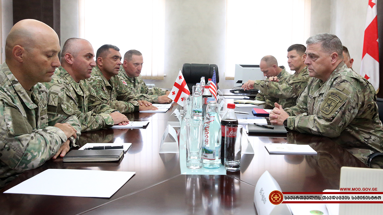 Генерал Марк Майли в Грузии
