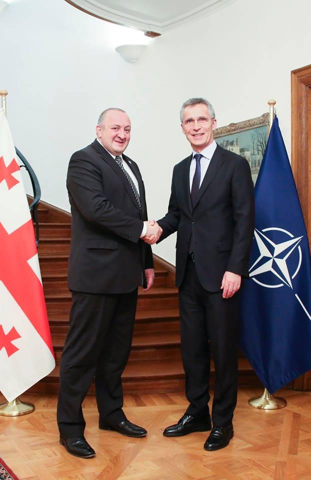 Margvelashvili Stoltenberg 1 #новости брюссель, Георгий Маргвелашвили, Грузия, Йенс Столтенберг, НАТО, саммит