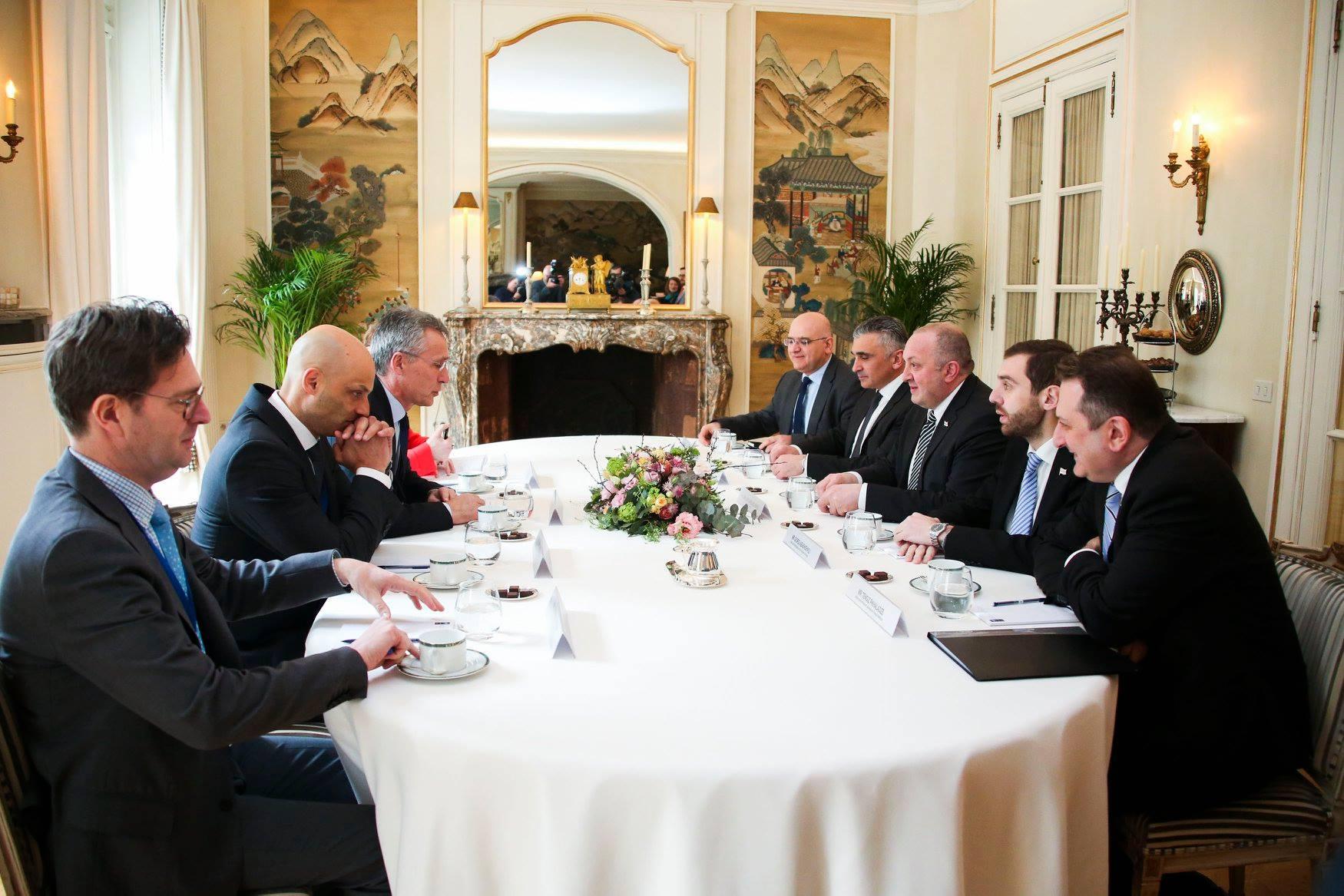 Margvelashvili Stoltenberg 3 #новости брюссель, Георгий Маргвелашвили, Грузия, Йенс Столтенберг, НАТО, саммит