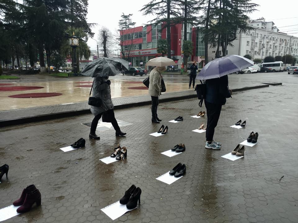 Zugdidi 2 #новости 8 марта, Грузия, женщины, Зугдиди, перформанс, права человека