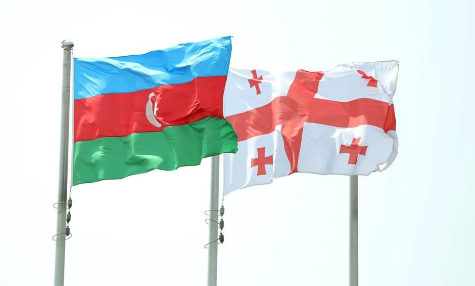 Azerbaijan Georgia Flags #новости граница, грузия-азербайджан, Давид Гареджи, Давид Залкалиани, Джейхун Байрамов