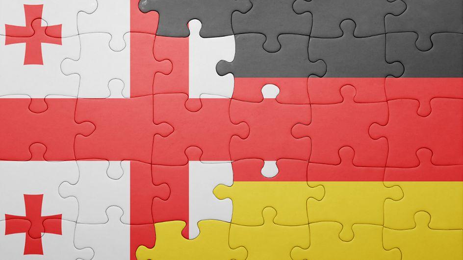 Georgia Germany Flag евросоюз евросоюз