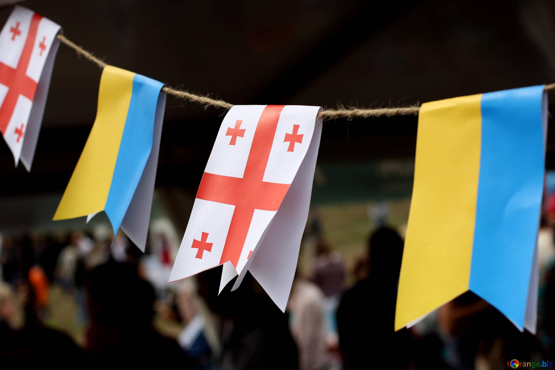 Georgia Ukraine Flags Владислав Криклий Владислав Криклий