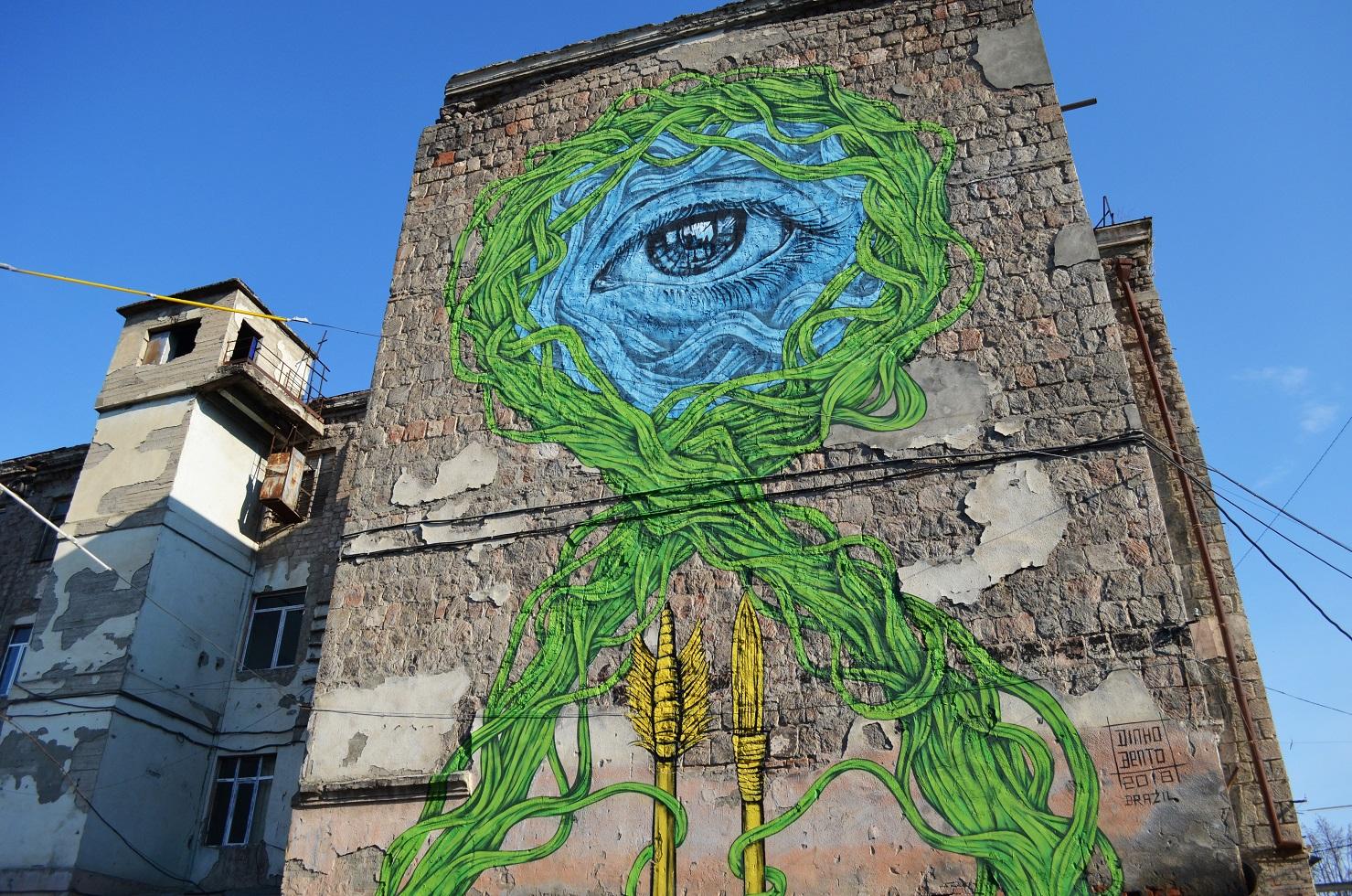 1 1 #art featured, арт, Бразилия, германия, граффити, Грузия, Дино Бенто, искусство, Лапиз, мурал, Саша Корбан, стрит-арт, тбилиси, украина