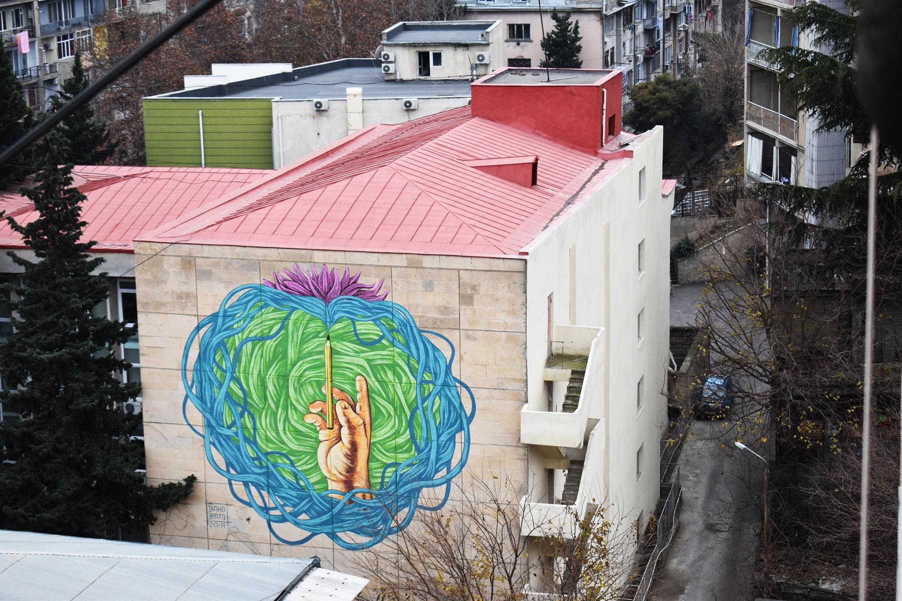 2 #art featured, арт, Бразилия, германия, граффити, Грузия, Дино Бенто, искусство, Лапиз, мурал, Саша Корбан, стрит-арт, тбилиси, украина