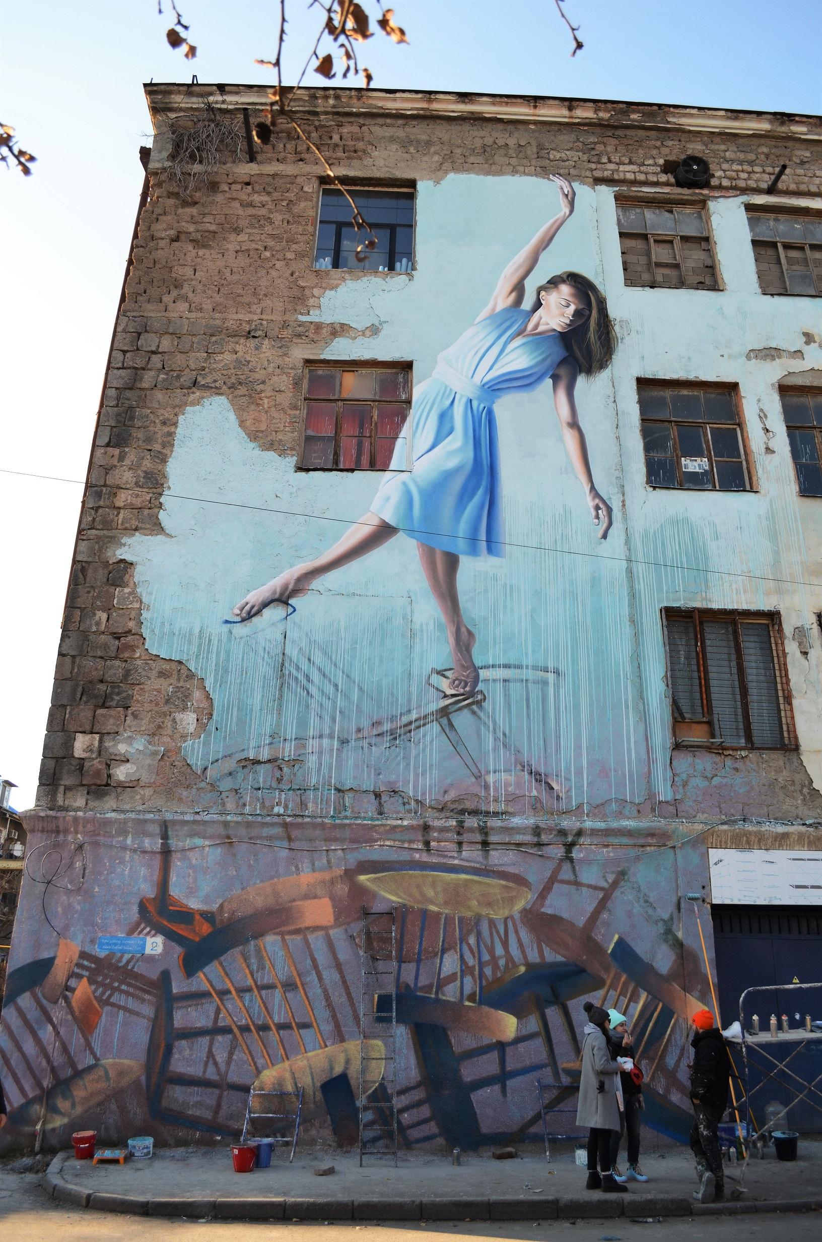 6 #art featured, арт, Бразилия, германия, граффити, Грузия, Дино Бенто, искусство, Лапиз, мурал, Саша Корбан, стрит-арт, тбилиси, украина