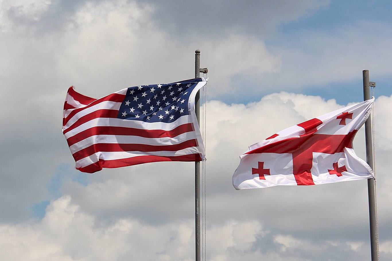 USA Georgia Flags #новости Выбор-2021, Грузия-США, Тбилиси-Вашингтон