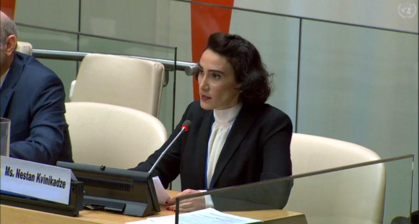Речь в ООН: О сильных грузинках за шесть минут