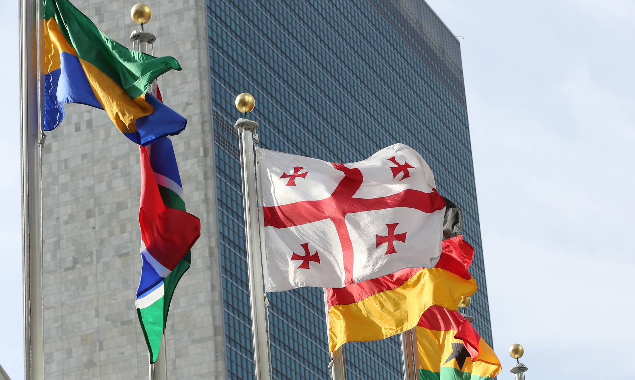 Georgia UN Flags Тоомас Хендрик Ильвес Тоомас Хендрик Ильвес
