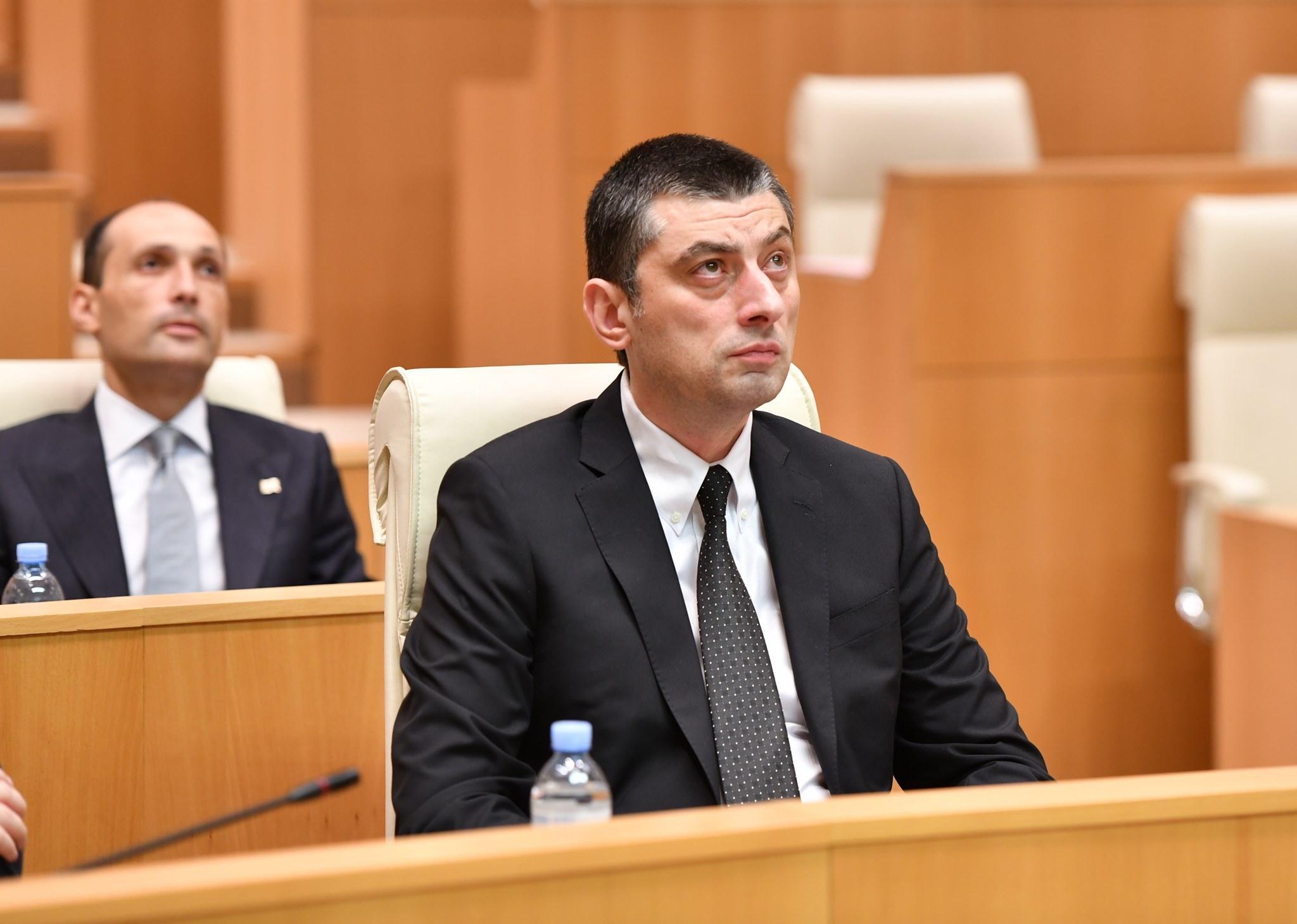 Giorgi Gakharia 17 #новости featured, вотум доверия, Георгий Гахария, парламент Грузии, правительство Грузии