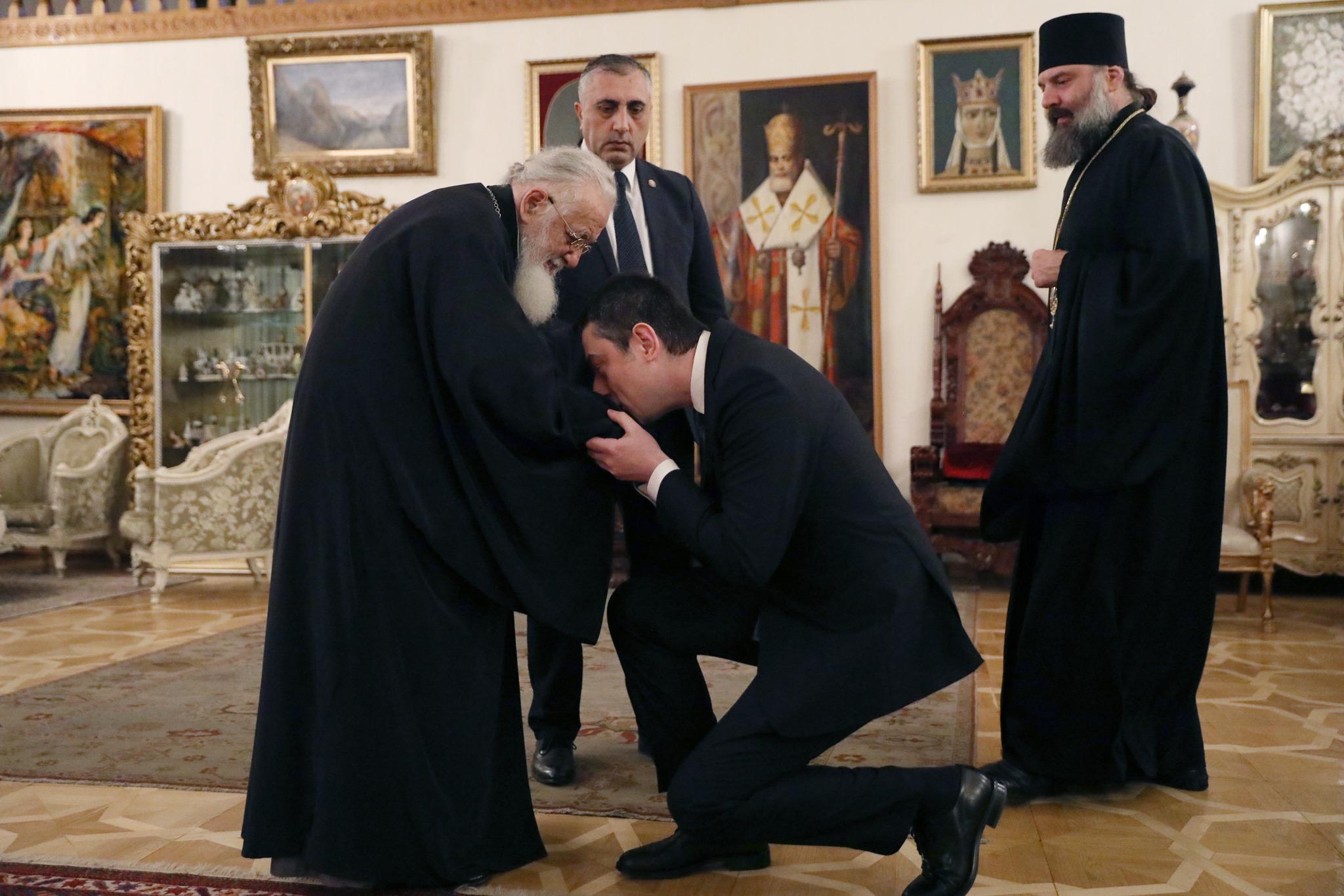 Giorgi Gakharia Ilia II 1 Илия II Илия II