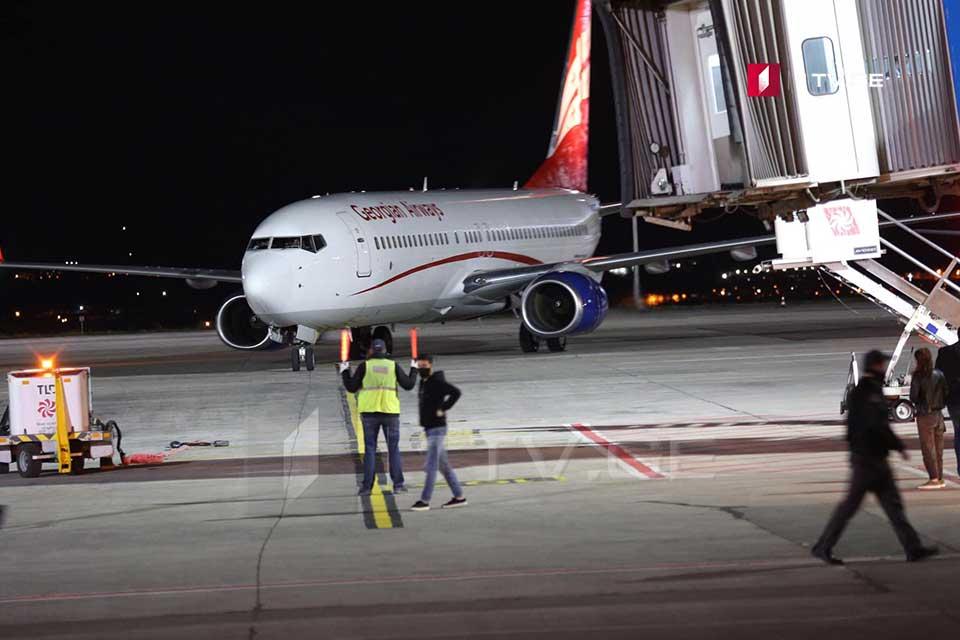 Georgian Airways эвакуация эвакуация