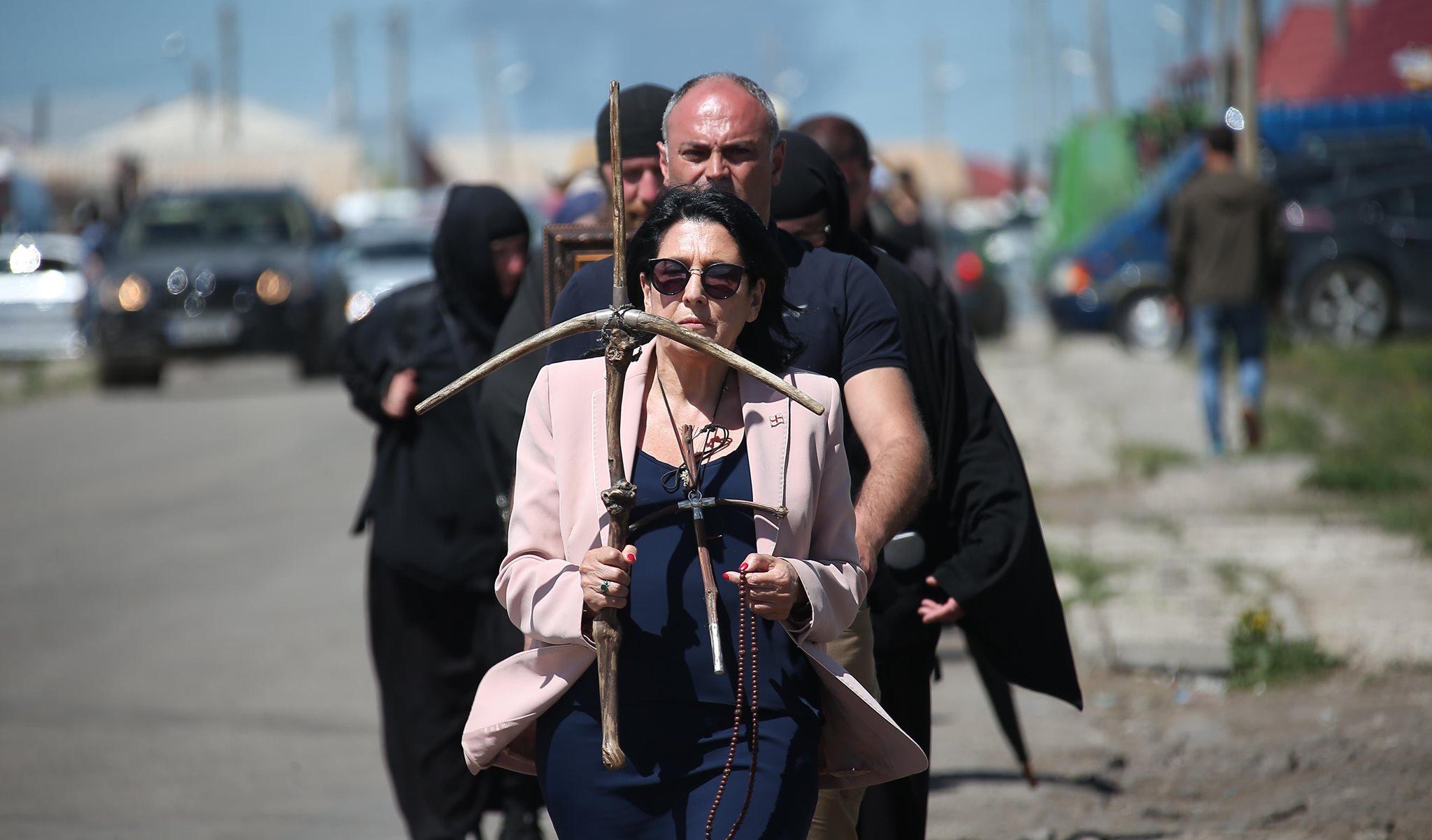 Salome Zourabishvili 2 #новости Грузинская Православная Церковь, Илия Второй, Католикос-Патриарх, Конкордат, Саломе Зурабишвили
