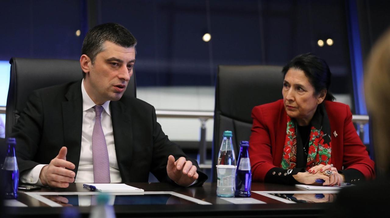Gakharia Zourabishvili Камилла Харрис Камилла Харрис