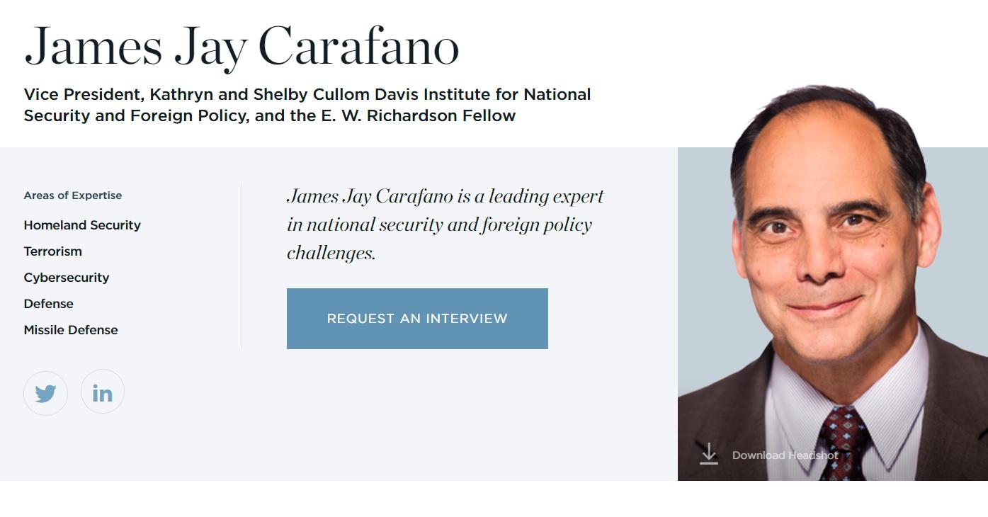 James Carafano Heritage Foundation Heritage Foundation