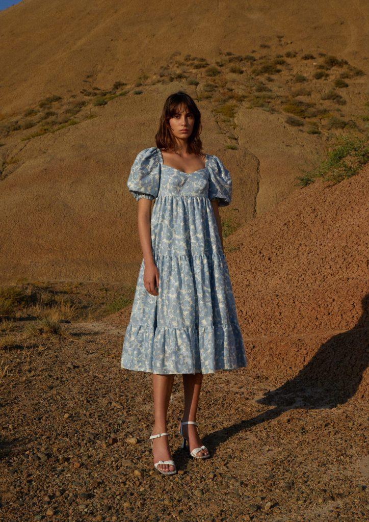 Воздушное платье с открытой спиной, ANOUKI