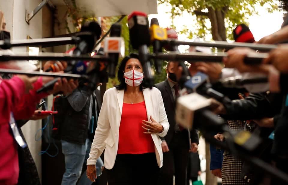 Salome Zourabishvili 421 #новости Выборы 2020, Саломе Зурабишвили, Тамар Жвания, ЦИК Грузии