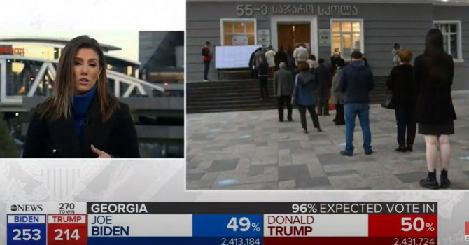 Youtube #новости ABC News, Выборы 2020, выборы в США, Джорджия