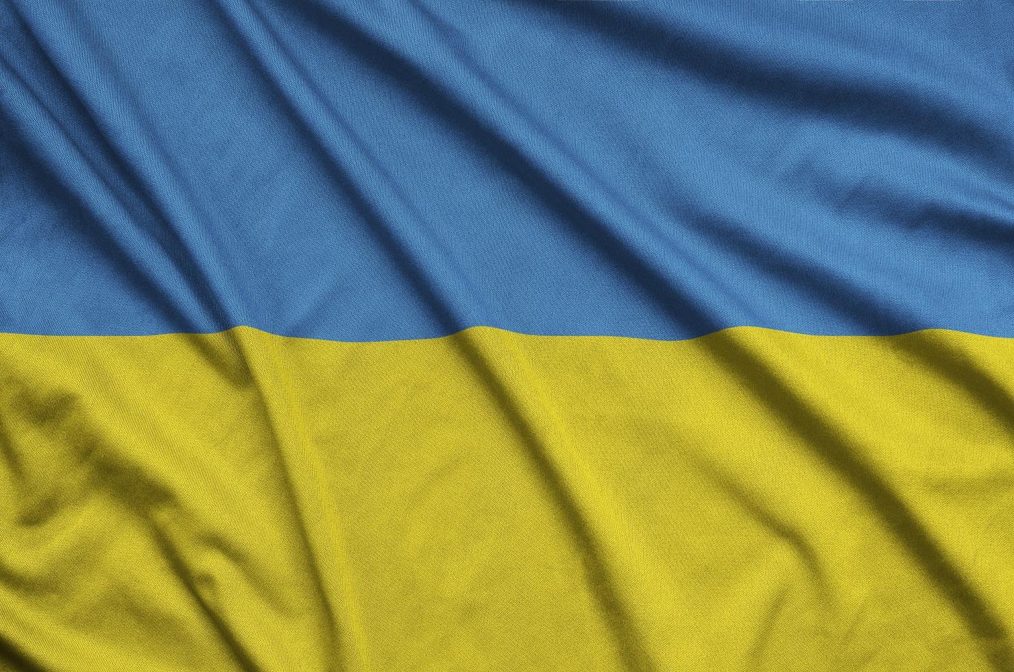 ukraine flag is depicted on a sports cloth fabric KZ3HURJ #новости NEXTA, Ryanair, авиасообщение, Беларусь, киев, Минск, Роман Протасевич, украина