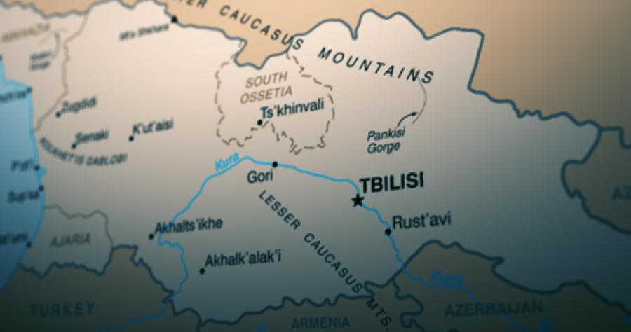 Georgia Map #новости Грузия-США, Заза Гахеладзе, ОБСЕ, Элизабет Розеншток-Силлер, Южная Осетия