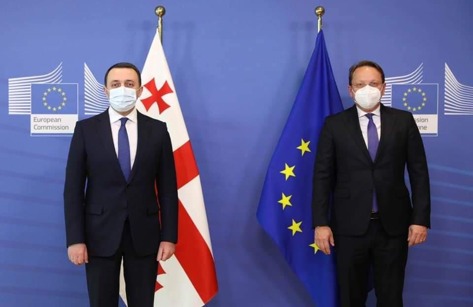 161083038 458351878646095 6173442955955673643 n #новости брюссель, Ираклий Гарибашвили, Оливер Вархели, премьер-министр