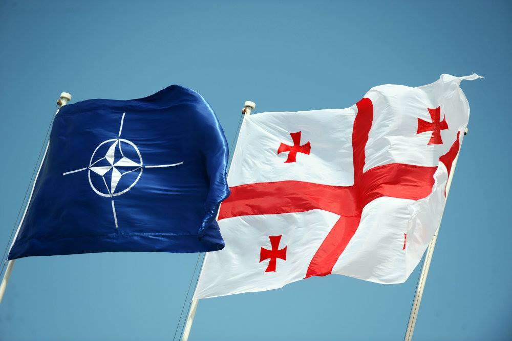 Georgia NATO Flags #новости Грузия-НАТО, НАТО
