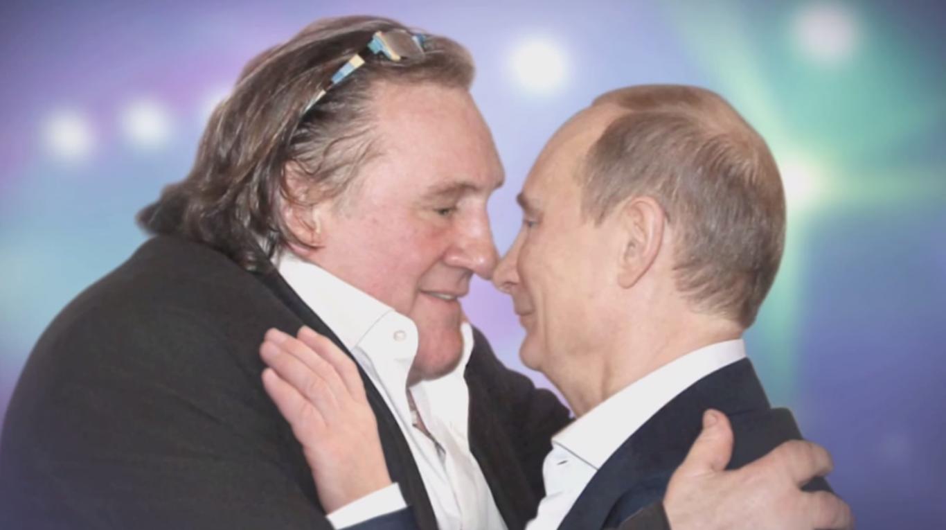 Deparde Putin #общество грузинское кино, Жерар Депардье, Мераб Кокочашвили, Росси Де Пальма