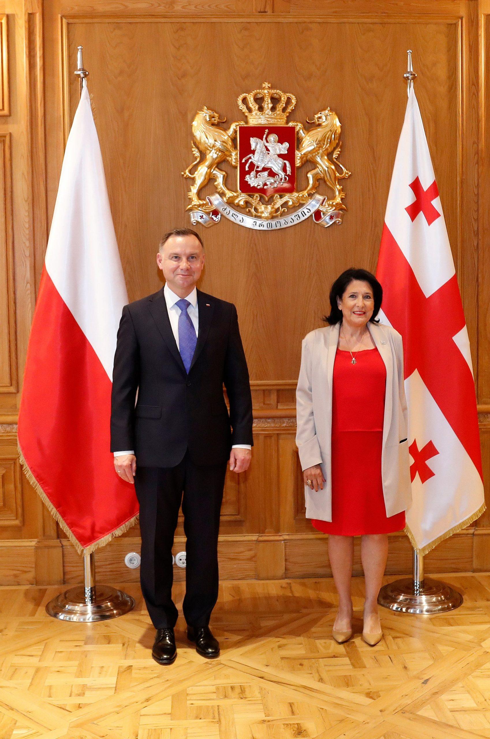 Zourabishvili Duda 2 scaled #новости Анджей Дуда, Грузия-ЕС, Грузия-НАТО, Грузия-Польша, Польша