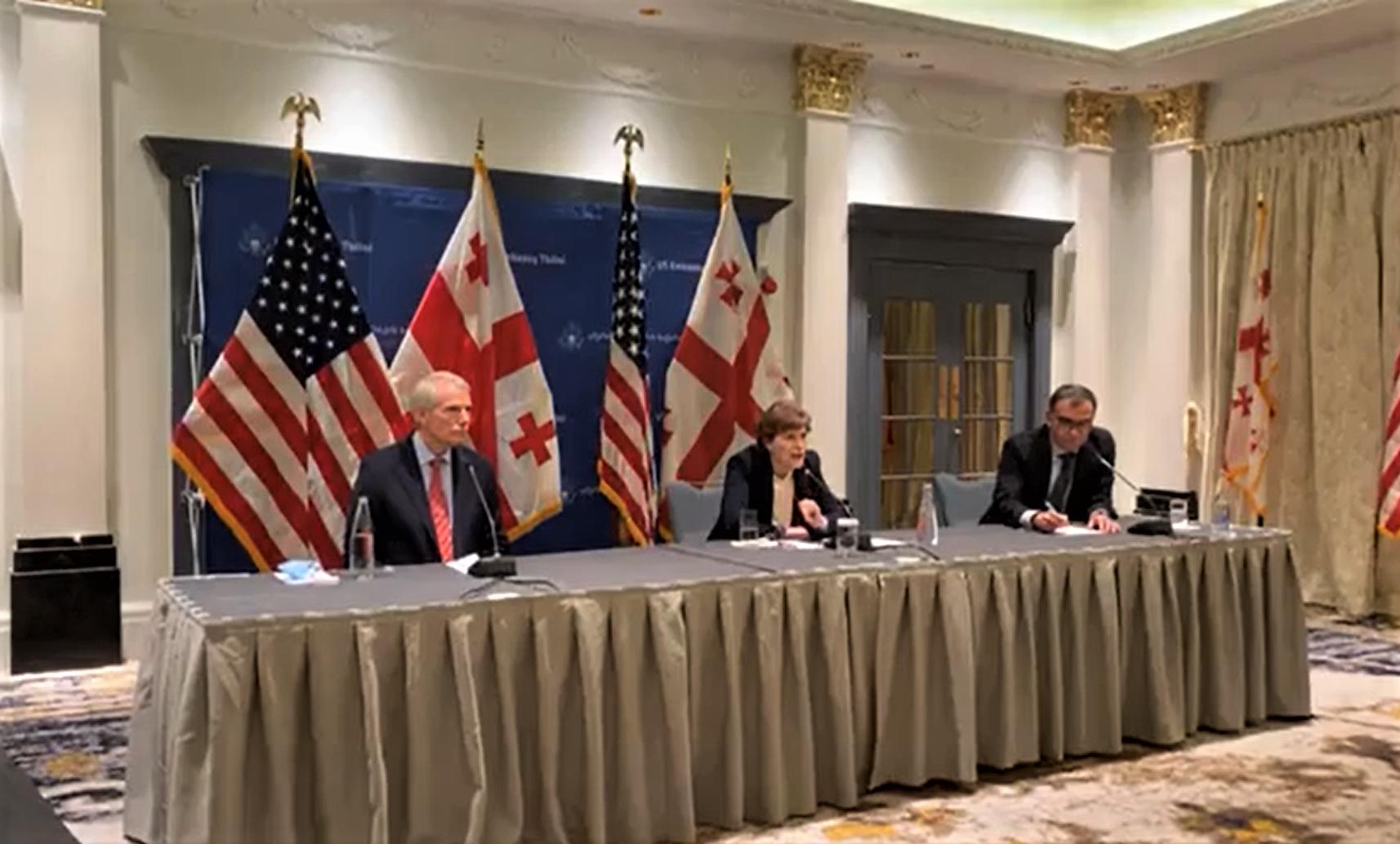 289674263 #новости Грузия-НАТО, Грузия-США, Джин Шахин, НАТО, Роб Портман