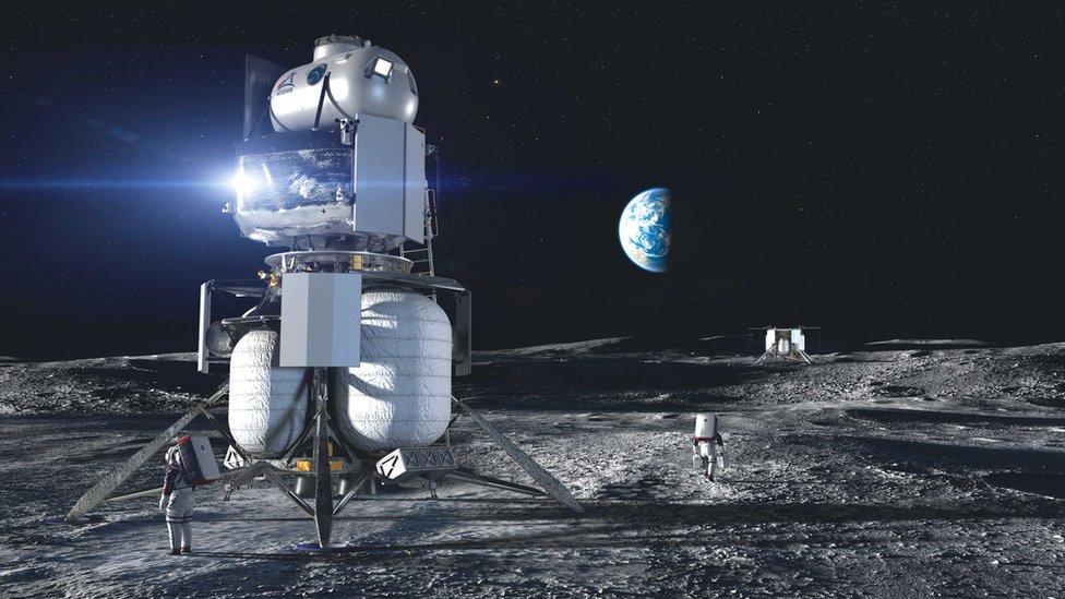 112051084 blueorigin hls lander de ae moon Джефф Безос Джефф Безос