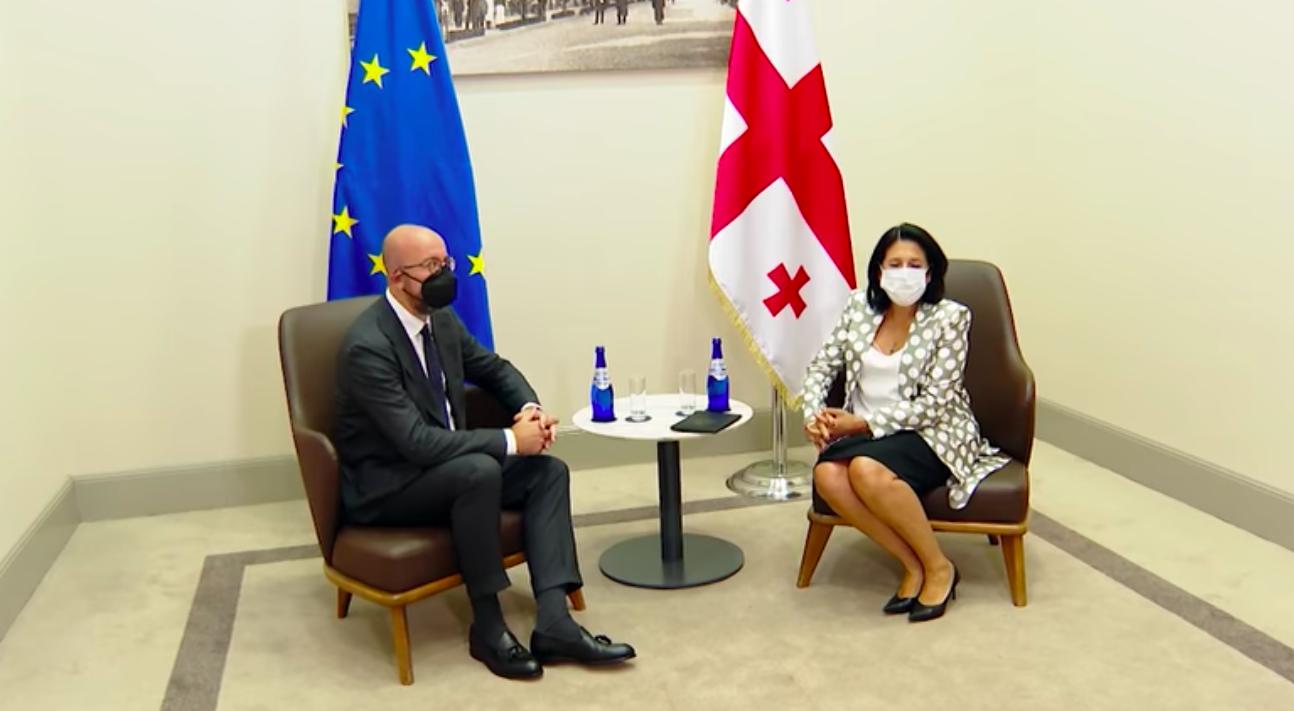Screenshot 2021 07 19 at 09.55.35 #новости Грузия-ЕС, Саломе Зурабишвили, Шарль Мишель