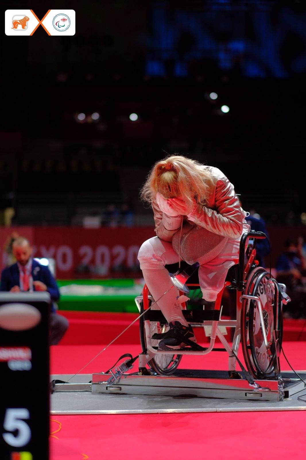 240360626 6113706215338545 4633102393996393027 n #новости Нино Тибилашвили, паралимпиада в Токио, спорт, фехтование