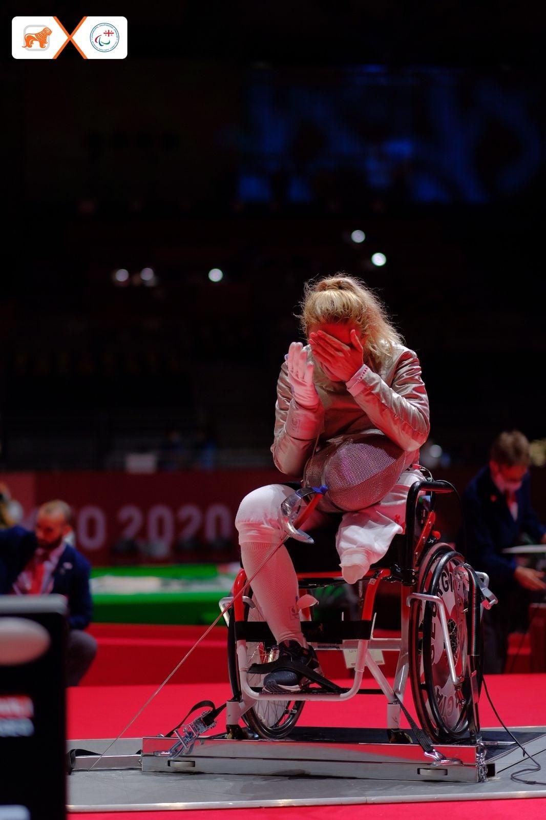 240590688 6113706228671877 3000658329072206388 n #новости Нино Тибилашвили, паралимпиада в Токио, спорт, фехтование