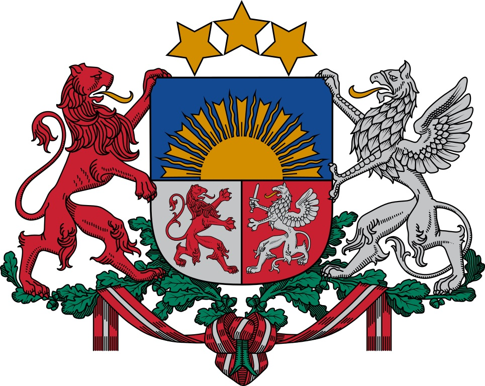 965px Coat of arms of Latvia Грузия-Латвия Грузия-Латвия