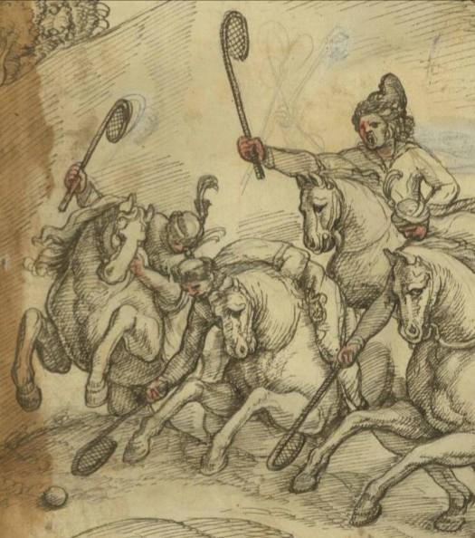 georgians playing polo by castelli Другая SOVA featured, Георгий Саакадзе, история Грузии, католическая церковь, Кристофоро де Кастелли