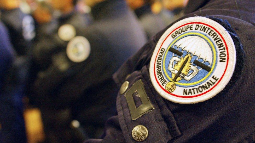 Нашивка Национальной жандармерии Франции
